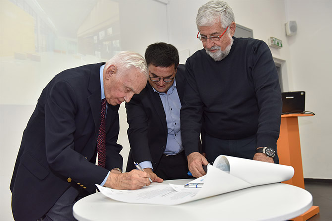 Cornerstone Laid for the Jack, Joseph and Morton Mandel Innovation Center in Yeruham